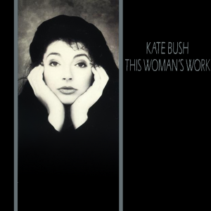 This is the cover art for This Woman's Work. The cover art copyright is believed to belong to the record label or the graphic artist(s). Artwork for Kate Bush's single,