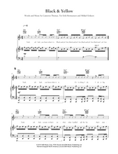 Load image into Gallery viewer, Black and Yellow - Wiz Khalifa: Piano/Voice/Guitar Sheet Music | Axtell Music  Edit alt text