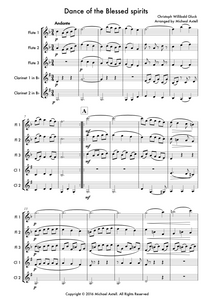 Dance Of The Blessed Spirits: Woodwind Sheet Music | Axtell Music  Edit alt text