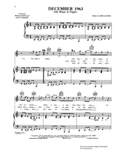 Load image into Gallery viewer, December 1963 - The Four Seasons: Sheet Music  for Piano, Voice and Guitar. Axtell Music