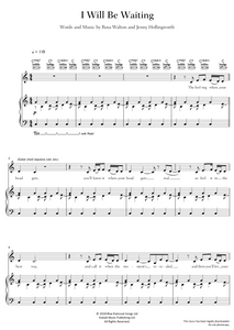 I Will Be Waiting - Let's Eat Grandma: Piano/Voice/Guitar Sheet Music
