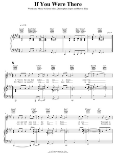 If You Were There - The Isley Brothers: Piano/Voice/Guitar Sheet Music | Axtell Music