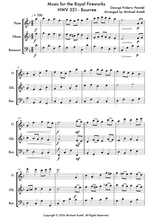 Load image into Gallery viewer, Music For The Royal Fireworks HWV 351: Bourree Woodwind Sheet Music