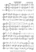 Load image into Gallery viewer, O Lovely Peace, Woodwind Trio arrangement sheet music for Flutes, Oboe and Clarinet.