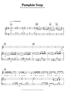 Pumpkin Soup by Kate Nash Sheet Music for Piano/Voice/Guitar.