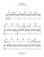 Load image into Gallery viewer, Sunburn by Muse. Sheet Music for Piano/Voice/Guitar.