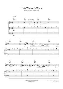 This Woman's Work by Maxwell. Sheet Music for Piano/Voice/Guitar.
