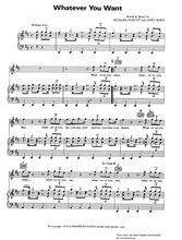 Load image into Gallery viewer, Download and print Whatever You Want by Status Quo. Sheet Music for Piano/Voice/Guitar.