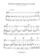 Load image into Gallery viewer, Download and print I Wish It Could Be Christmas Every Day by Wizzard. Sheet Music for Piano/Voice/Guitar.