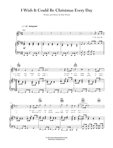 Download and print I Wish It Could Be Christmas Every Day by Wizzard. Sheet Music for Piano/Voice/Guitar.