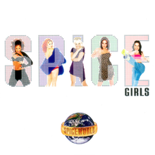 Load image into Gallery viewer, This is the cover art for the album Spiceworld by the artist Spice Girls. The cover art copyright is believed to belong to the label, Virgin Records, or the graphic artist(s).    Spice Up Your Life - Spiceworld:  Sheet Music for Piano/Voice/Guitar