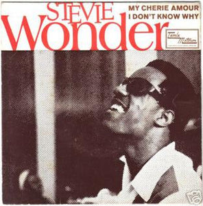 "This is the 7"" single, 1969 for the vinyl album My Cherie Amour (song) by the artist Stevie Wonder. The cover art copyright is believed to belong to the label, Motown, or the graphic artist(s).   My Cherie Amour - Stevie Wonder: Sheet Music 