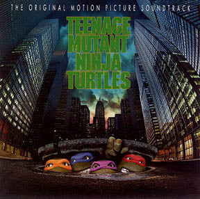 Album cover to Teenage Mutant Ninja Turtles: The Original Motion Picture Soundtrack.   T-U-R-T-L-E Power- Teenage Mutant Ninja Turtles, The Original Motion Picture Soundtrack