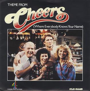 This is the cover art for the single Where Everybody Knows Your Name by the artist Gary Portnoy. The cover art copyright is believed to belong to the label, Earthtone Recording Company, or the graphic artist(s). US single release, using inter title of Cheers as part of the sleeve
