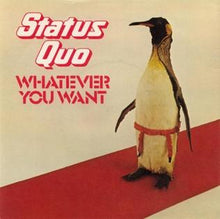 "Load image into Gallery viewer, This is the cover art for ""Whatever You Want"" by the artist Status Quo. The cover art copyright is believed to belong to the label, Vertigo Records, or the graphic artist(s). WhateverYouWant-AlbumCover.png  300 × 300px  Whatever You Want - Status Quo: Piano/Voice/Guitar Sheet Music"