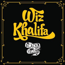 Load image into Gallery viewer,   This is the cover art for the single Black and Yellow by the artist Wiz Khalifa. The cover art copyright is believed to belong to the label, Rostrum, Atlantic, or the graphic artist(s).Black and Yellow - Wiz Khalifa: Piano/Voice/Guitar Sheet Music | Axtell Music