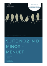 Load image into Gallery viewer, Cover art for Suite No.2 In B Minor: Menuet - J.S Bach: Woodwind Sheet Music