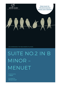 Cover art for Suite No.2 In B Minor: Menuet - J.S Bach: Woodwind Sheet Music
