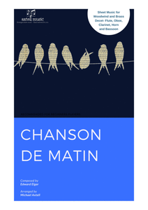 This is the cover art for Chanson De Matin Woodwind Sheet Music | Axtell Music