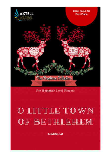 Art cover for O Little town of Bethlehem (St. Louis) - Christmas Piano Sheet Music