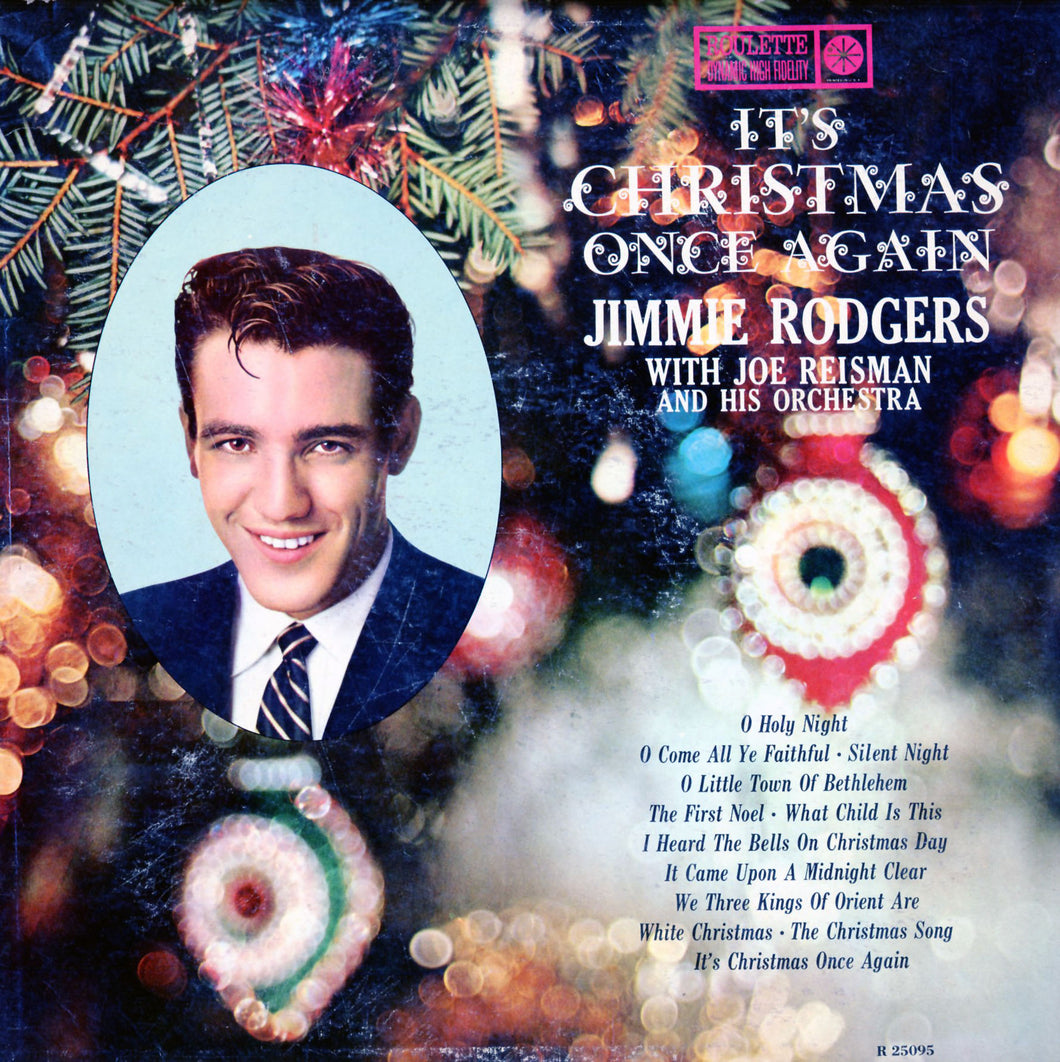 Cover art for It's Christmas Once again- Jimmie Rodgers. All rights reserved to the artist and record label. Download and print It's Christmas Once Again recorded by Jimmie Rodgers Sheet Music for Piano/Voice/Guitar.