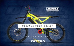 Triton Electric Bikes is official CZEM Electric Dirt Bike Vendor