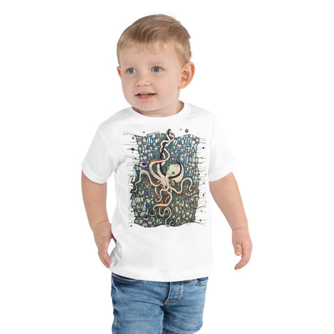 """Caught Octo"" Toddler Short Sleeve Tee"