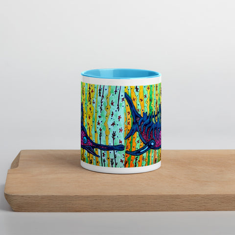 """Swordfish"" Mug with Color Inside"