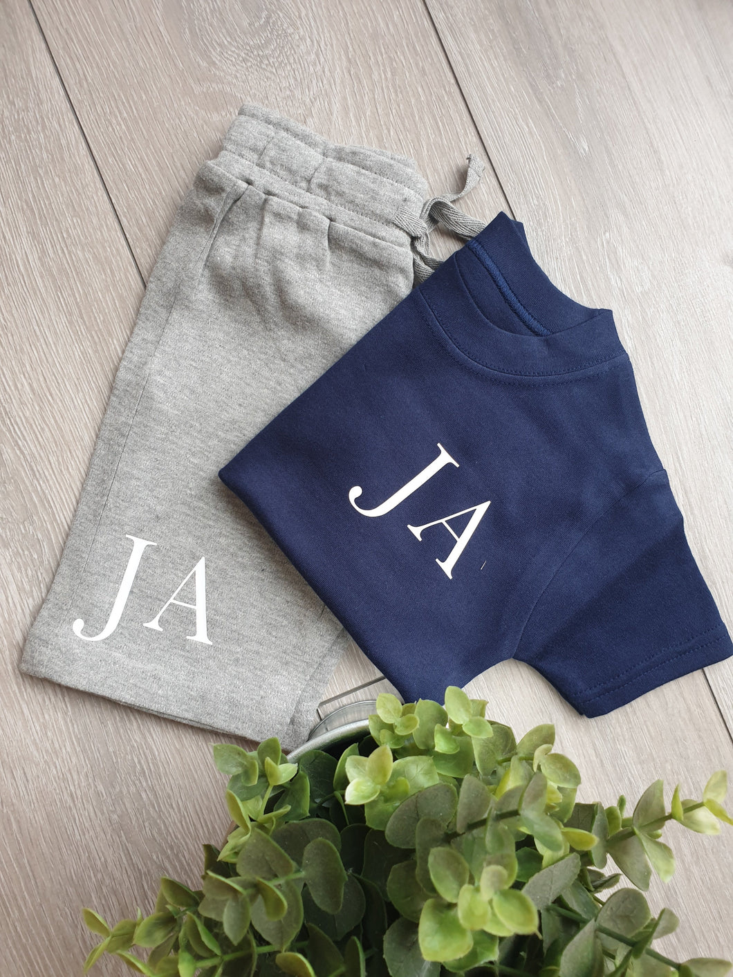 Initial Shorts and Tee Set