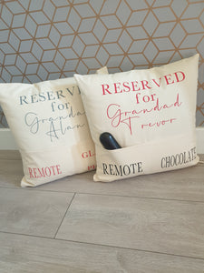 Reserved for Pocket Cushion cover