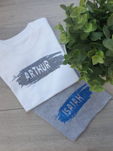 Paint Swipe Child's Name Tee