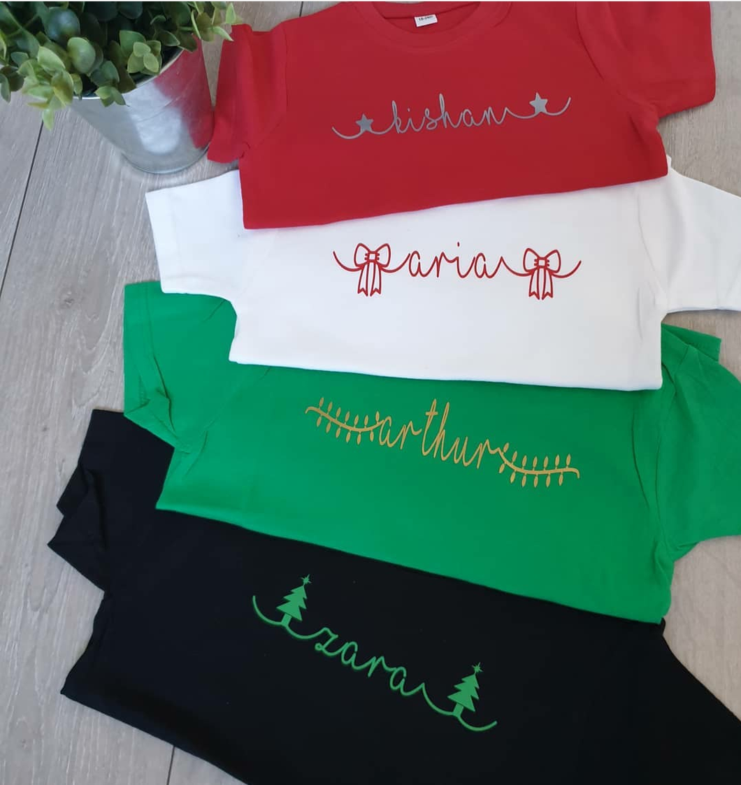 Christmas Name Childs Tee