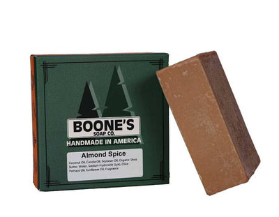 Almond Spice - Boone's Soap Co. - boonessoap.com - Mens Soap with Natural ..., Best Soaps for Men 2020, Soap for Men with Natural Scent, Handmade Men's Soap, Natural Exfoliating Soap, Soap Handmade in  USA, Natural Soap for Men