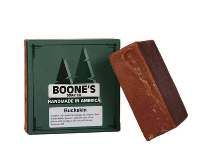 Buckskin - Boone's Soap Co. - boonessoap.com - Mens Soap with Natural ..., Best Soaps for Men 2020, Soap for Men with Natural Scent, Handmade Men's Soap, Natural Exfoliating Soap, Soap Handmade in  USA, Natural Soap for Men