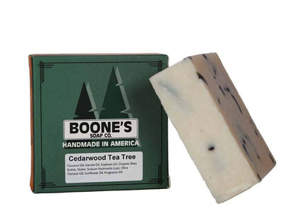 Cedarwood Tea Tree - Boone's Soap Co. - boonessoap.com - Mens Soap with Natural ..., Best Soaps for Men 2020, Soap for Men with Natural Scent, Handmade Men's Soap, Natural Exfoliating Soap, Soap Handmade in  USA, Natural Soap for Men