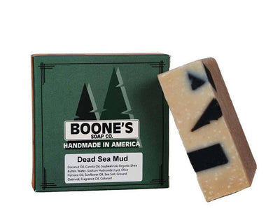 Dead Sea Mud - Boone's Soap Co. - boonessoap.com - Mens Soap with Natural ..., Best Soaps for Men 2020, Soap for Men with Natural Scent, Handmade Men's Soap, Natural Exfoliating Soap, Soap Handmade in  USA, Natural Soap for Men