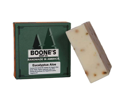 Eucalyptus Aloe - Boone's Soap Co. - boonessoap.com - Mens Soap with Natural ..., Best Soaps for Men 2020, Soap for Men with Natural Scent, Handmade Men's Soap, Natural Exfoliating Soap, Soap Handmade in  USA, Natural Soap for Men