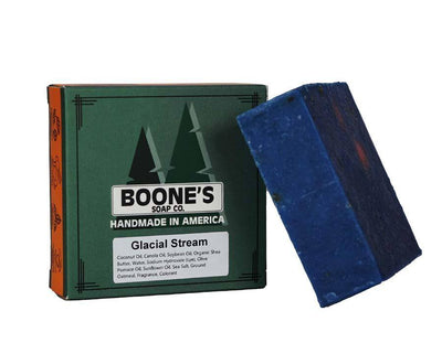 Glacial Stream - Boone's Soap Co. - boonessoap.com - Mens Soap with Natural ..., Best Soaps for Men 2020, Soap for Men with Natural Scent, Handmade Men's Soap, Natural Exfoliating Soap, Soap Handmade in  USA, Natural Soap for Men