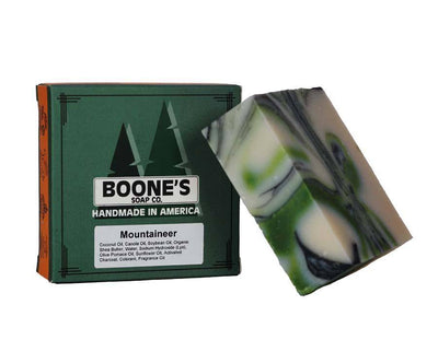 Mountaineer - Boone's Soap Co. - boonessoap.com - Mens Soap with Natural ..., Best Soaps for Men 2020, Soap for Men with Natural Scent, Handmade Men's Soap, Natural Exfoliating Soap, Soap Handmade in  USA, Natural Soap for Men