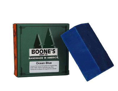 Ocean Blue - Boone's Soap Co. - boonessoap.com - Mens Soap with Natural ..., Best Soaps for Men 2020, Soap for Men with Natural Scent, Handmade Men's Soap, Natural Exfoliating Soap, Soap Handmade in  USA, Natural Soap for Men