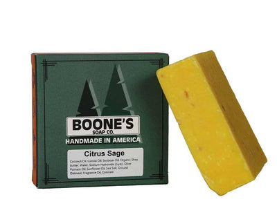 Citrus Sage - Boone's Soap Co. - boonessoap.com - Mens Soap with Natural ..., Best Soaps for Men 2020, Soap for Men with Natural Scent, Handmade Men's Soap, Natural Exfoliating Soap, Soap Handmade in  USA, Natural Soap for Men