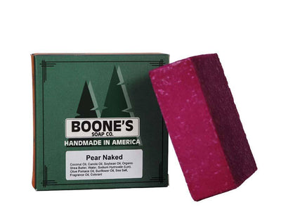 Pear Naked - Boone's Soap Co. - boonessoap.com - Mens Soap with Natural ..., Best Soaps for Men 2020, Soap for Men with Natural Scent, Handmade Men's Soap, Natural Exfoliating Soap, Soap Handmade in  USA, Natural Soap for Men