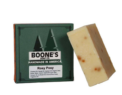 Rosy Posy - Boone's Soap Co. - boonessoap.com - Mens Soap with Natural ..., Best Soaps for Men 2020, Soap for Men with Natural Scent, Handmade Men's Soap, Natural Exfoliating Soap, Soap Handmade in  USA, Natural Soap for Men