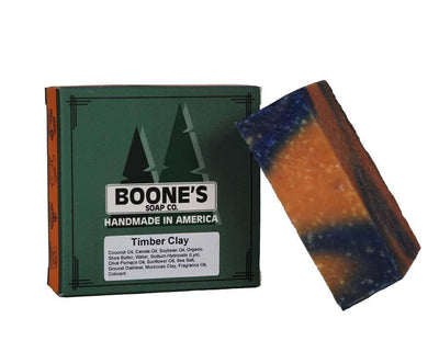 Timber Clay - Boone's Soap Co. - boonessoap.com - Mens Soap with Natural ..., Best Soaps for Men 2020, Soap for Men with Natural Scent, Handmade Men's Soap, Natural Exfoliating Soap, Soap Handmade in  USA, Natural Soap for Men
