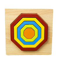 DIY Creative 3D Wooden Puzzle Geometric Shape Jigsaw