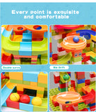 Mega Marble Race Track with Building blocks