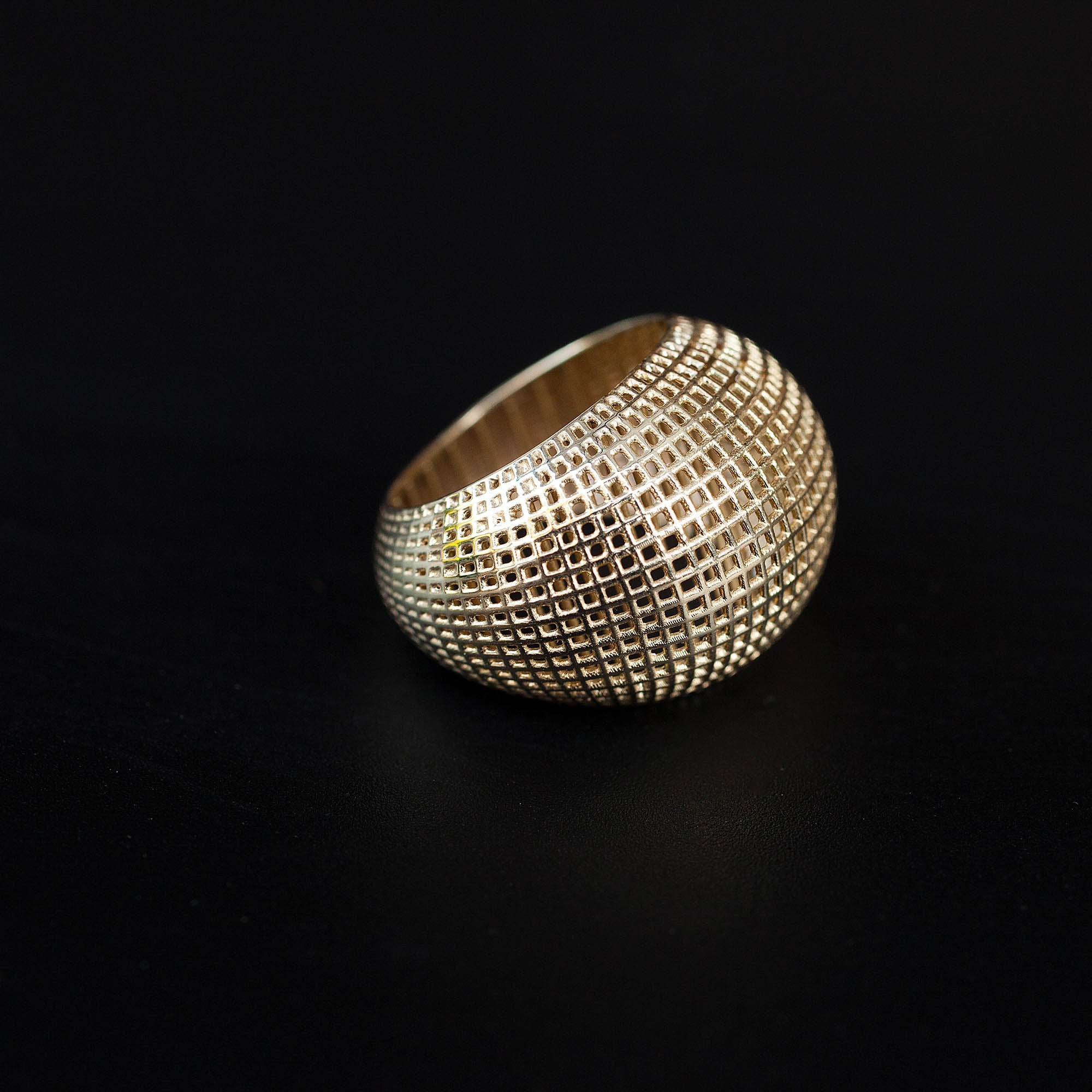 14 Karate Gold Net Bombe Ring