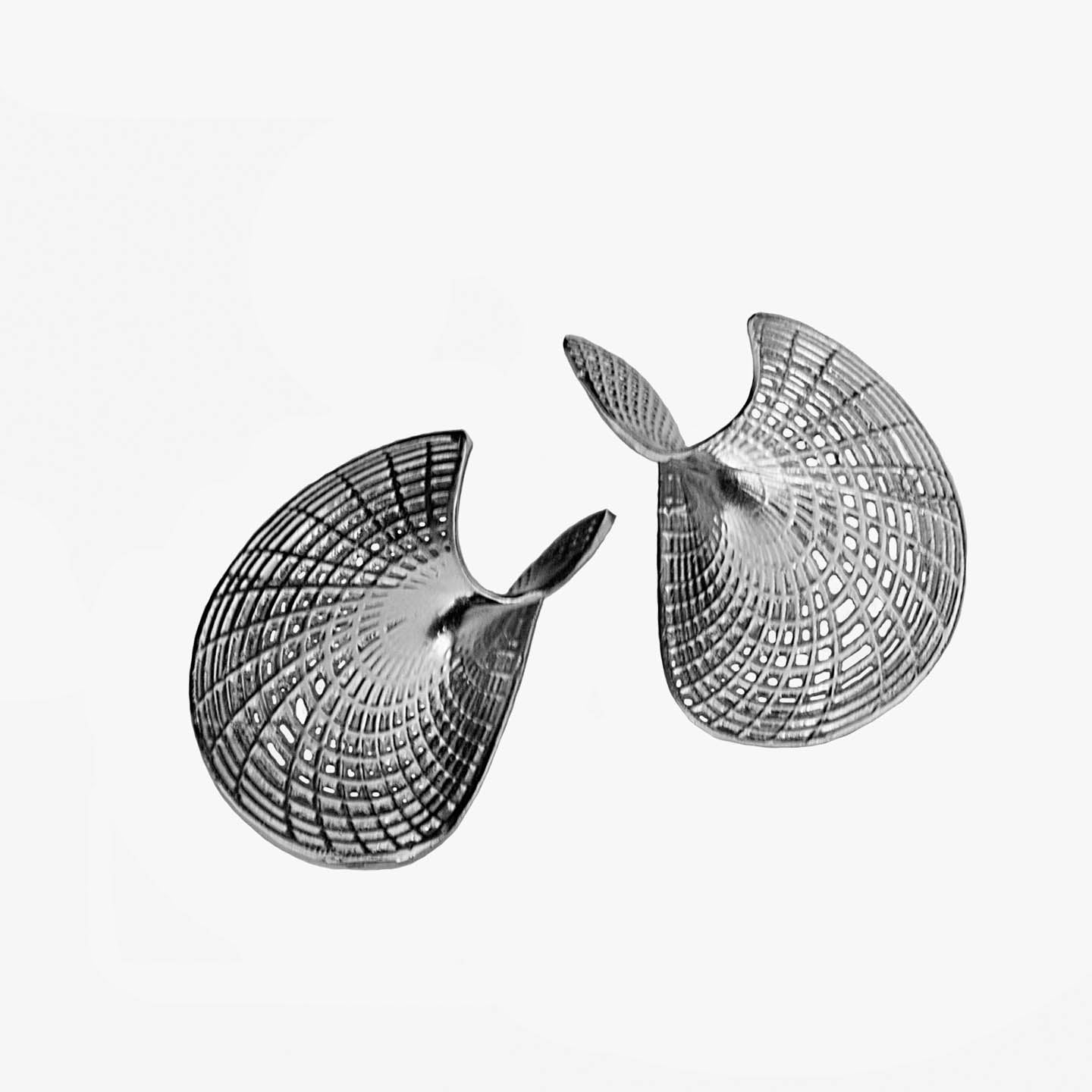 Sterling Silver -  Statement  Unique contemporary Earrings