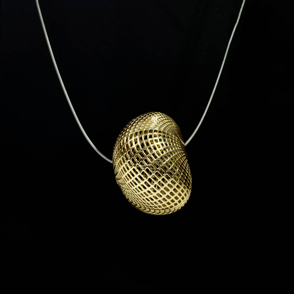 14K yellow gold UNIQUE pebble