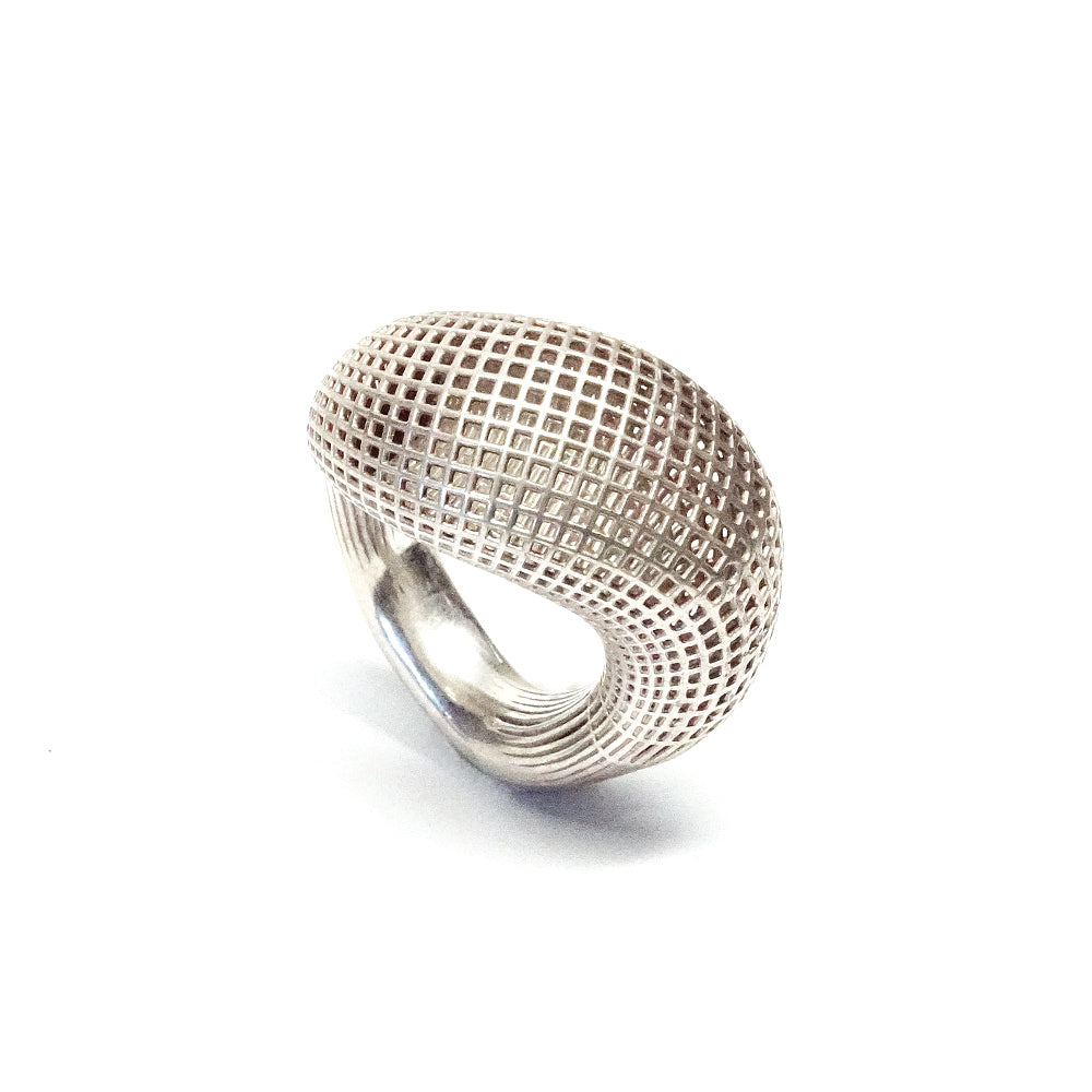 Sterling Silver Large Statement , Contemporary , Cocktail Ring
